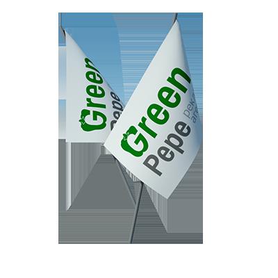 полиграфия флажки с логотипом