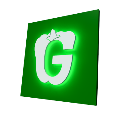 объемные буквы с подсветкой контражур